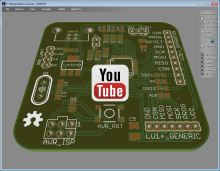 PCB View and Youtube play sign